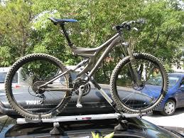 Thule kerékpártartó az autóra